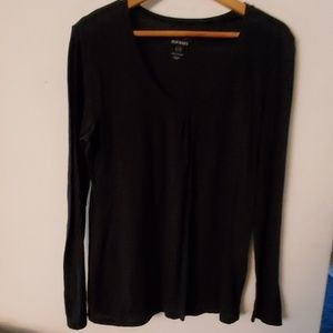 Old Navy Black Long Sleeve Blouse - L
